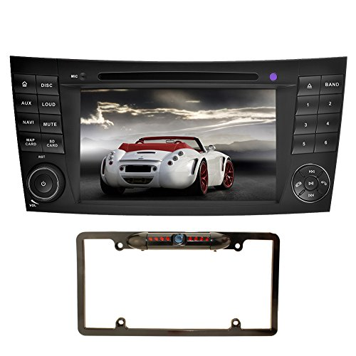 YINUO 7 inch 2 Din Android 7.1.1 Quad Core Car Stereo HD Touch Screen Car Radio Receiver DVD GPS Navigation for Mercedes-Benz E-W211/E200/E220/E240/E270/E280,CLS500/CLS55,Backup Camera