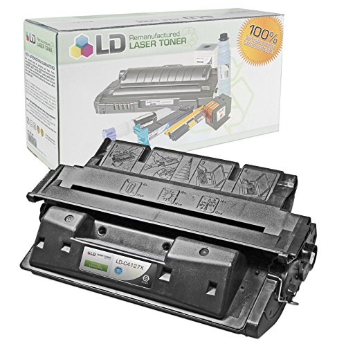 LD Remanufactured Replacement for Hewlett Packard C4127X (HP 27X) High Yield Black Laser Toner Cartridge for use in HP LaserJet 4000 and 4050 Printer (4050n Laser)