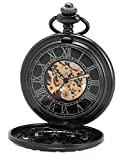AMPM24 Antique Automatic Mechanical Skeleton Pocket Watch WPK201