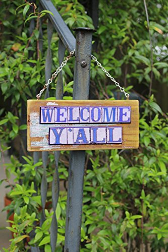 Welcome Y'all New Orleans Street Tile Sign