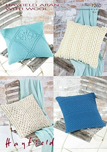 Sirdar Hayfield 7260 Knitting Pattern Cushion Covers To Knit In