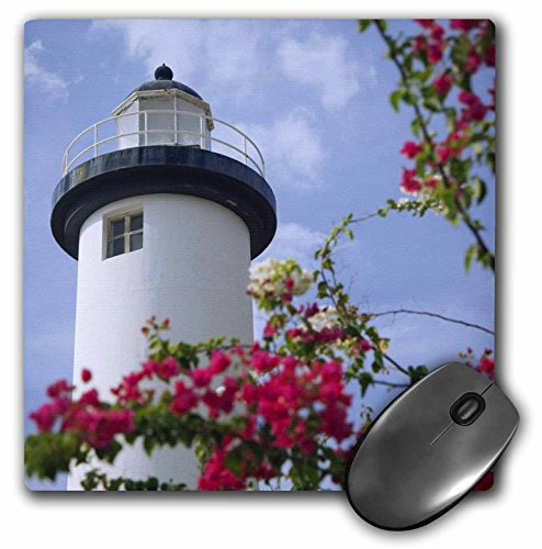 Price comparison product image 3dRose Puerto Rico, Viegues Island, lighthouse of Rincon-CA27 BJA0020 - Mouse Pad, 8 by 8 inches (mp_72961_1)