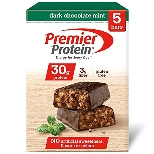 Premier Protein 30g Protein Bar, Dark Chocolate Mint, 2.53 oz Bar, (5 Count) (Best 30 Gram Protein Bars)