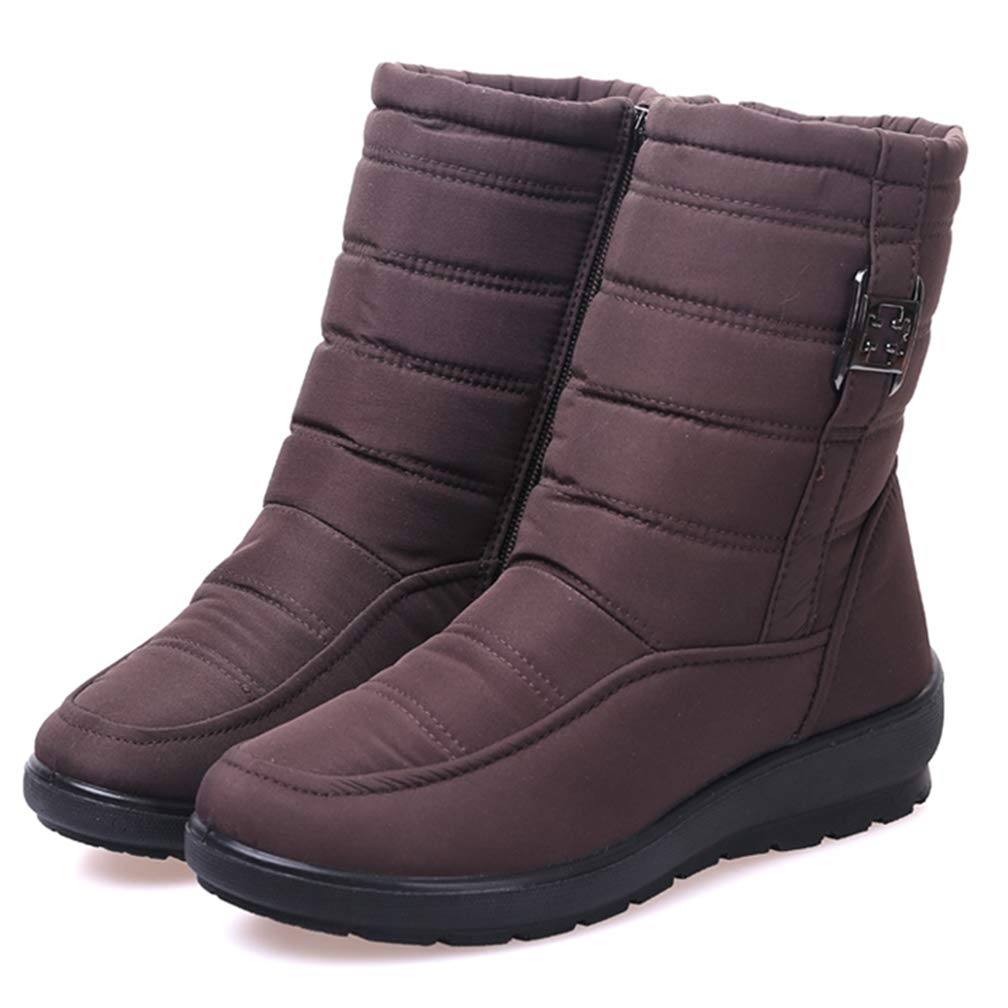 T-JULY Womens Winter Warm Boots Waterproof Down Snow Boots Female Plus Size Winter Fashion Casual Ankle Boots