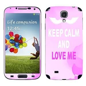 "Motivos Disagu Design Skin para Samsung Galaxy S4 Zoom LTE: ""KEEP CALM AND LOVE ME"""