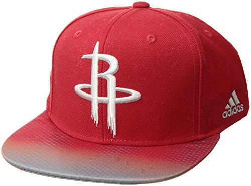 NBA Houston Rockets Men's Tail Sweep Flat Brim Snapback Hat, Red, One Size