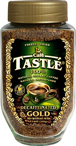 (Cafe Tastle Decaffeinated Freeze Dried Instant Coffee, 7.14 Ounce)