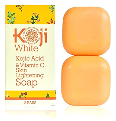 Kojic Acid & Vitamin C Skin Lightening Soap ( 2.82 oz / 2 Bars ) - Natural Brightening & Anti Aging - Reduce Wrinkles, Fades Age Spots, Sun Damage - Smooth And Soft Complexion For Face & Body