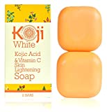 #3: Kojic Acid & Vitamin C Skin Lightening Soap (2.82 oz/2 Bars) - Natural Brightening & Anti Aging - Reduce Wrinkles, Fades Age Spots, Sun Damage - Smooth And Soft Complexion For Face & Body