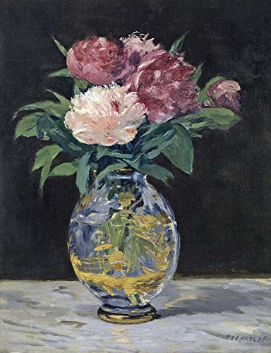 Canvas Art Print Reproduction Unmounted - 40X50cm (Approx. 16X20inch) Bouquet of Flowers 1882 by Édouard Manet - Still Life Paintings Giclee Picture Artwork Wall Decor ()