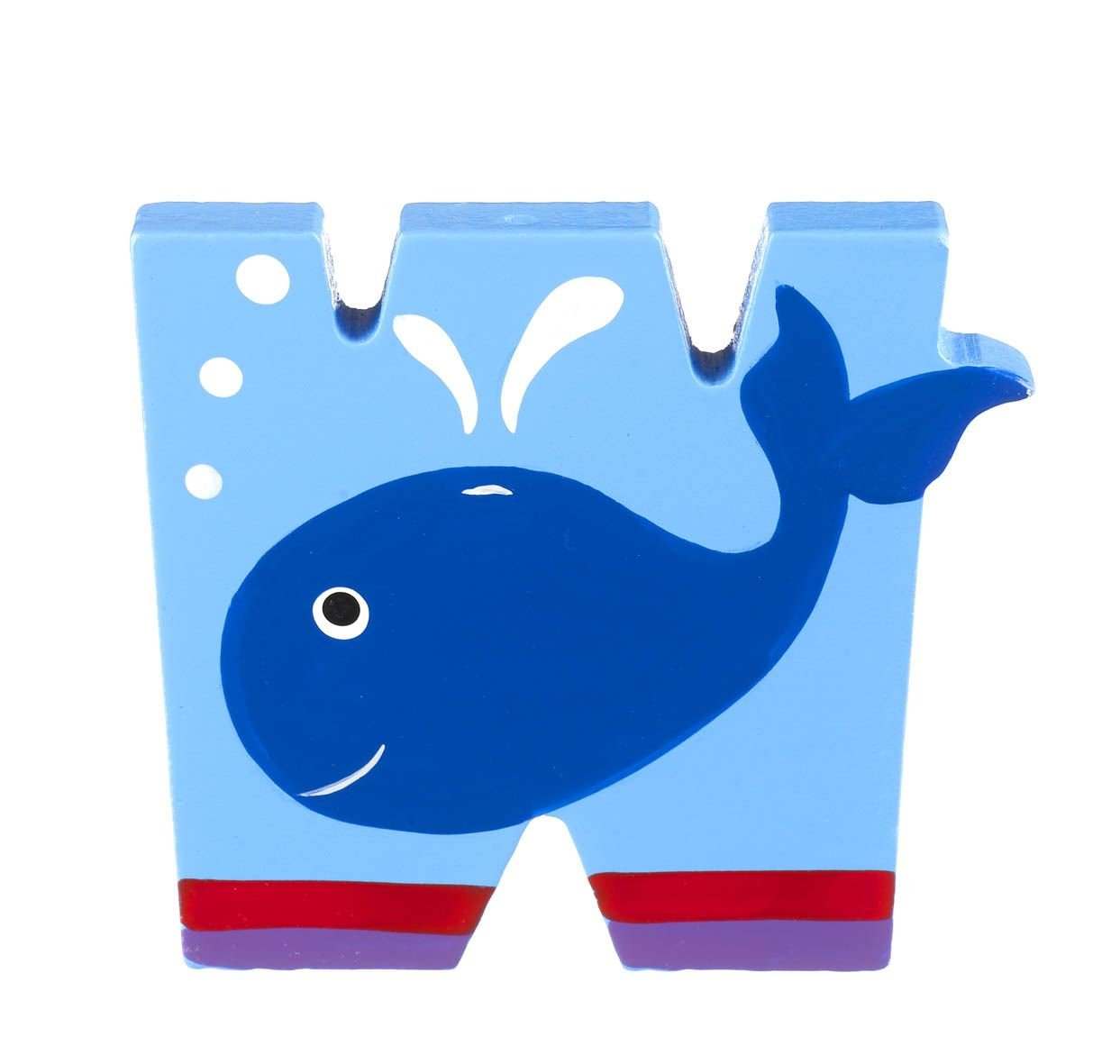 Wooden Letter W for Whale Orange Tree Toys