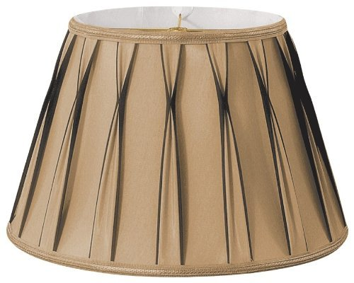 Royal Designs Bowtie Pleated Drum Designer Lamp Shade, Antique Gold, 11 x 18 x 12