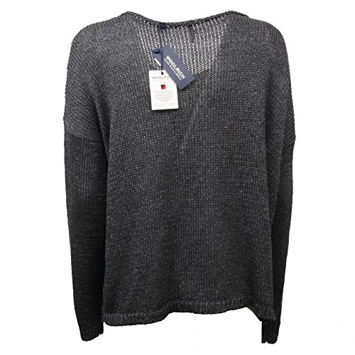 C4376 Woolrich Donna Woman Sweater Grigio Maglia Scuro rgT0WEwrzq