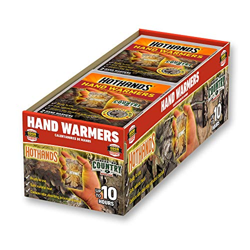 HotHands Mossy Oak Camo Hand Warmers - Long Lasting Safe Natural Odorless Air Activated Warmers - Up to 10 Hours of Heat - 40 Pair