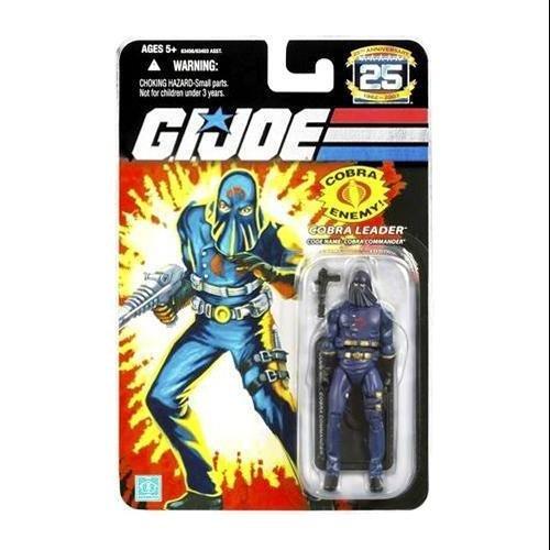 G.I. Joe 25th Anniversary: Hooded Cobra Commander (Cobra Leader) 3.75 Inch Action Figure (Snake Action Figure Original Eyes)