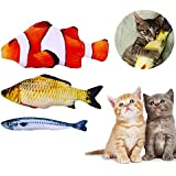 Anfire Fish Toys for Cat, Interactive Catnip Simulation Fish Toys Chew Pillow for Cat, Kitty, Kitten, Puppy, Ferret, Rabbit (3 Pack)
