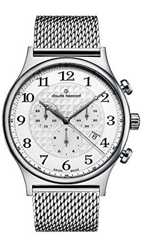 Claude Bernard Men's 10217 3M AB Classic Dress Chronograph Analog Display Swiss Quartz Silver Watch