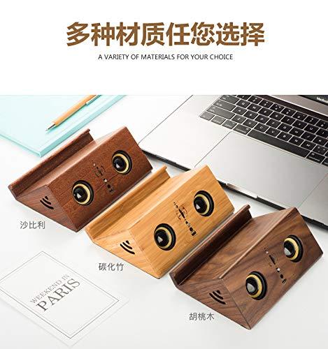 xingganglengyin Retro Wooden Bluetooth Speaker Mobile Phone Bracket Computer Audio Mini subwoofer USB Radio by xingganglengyin (Image #5)