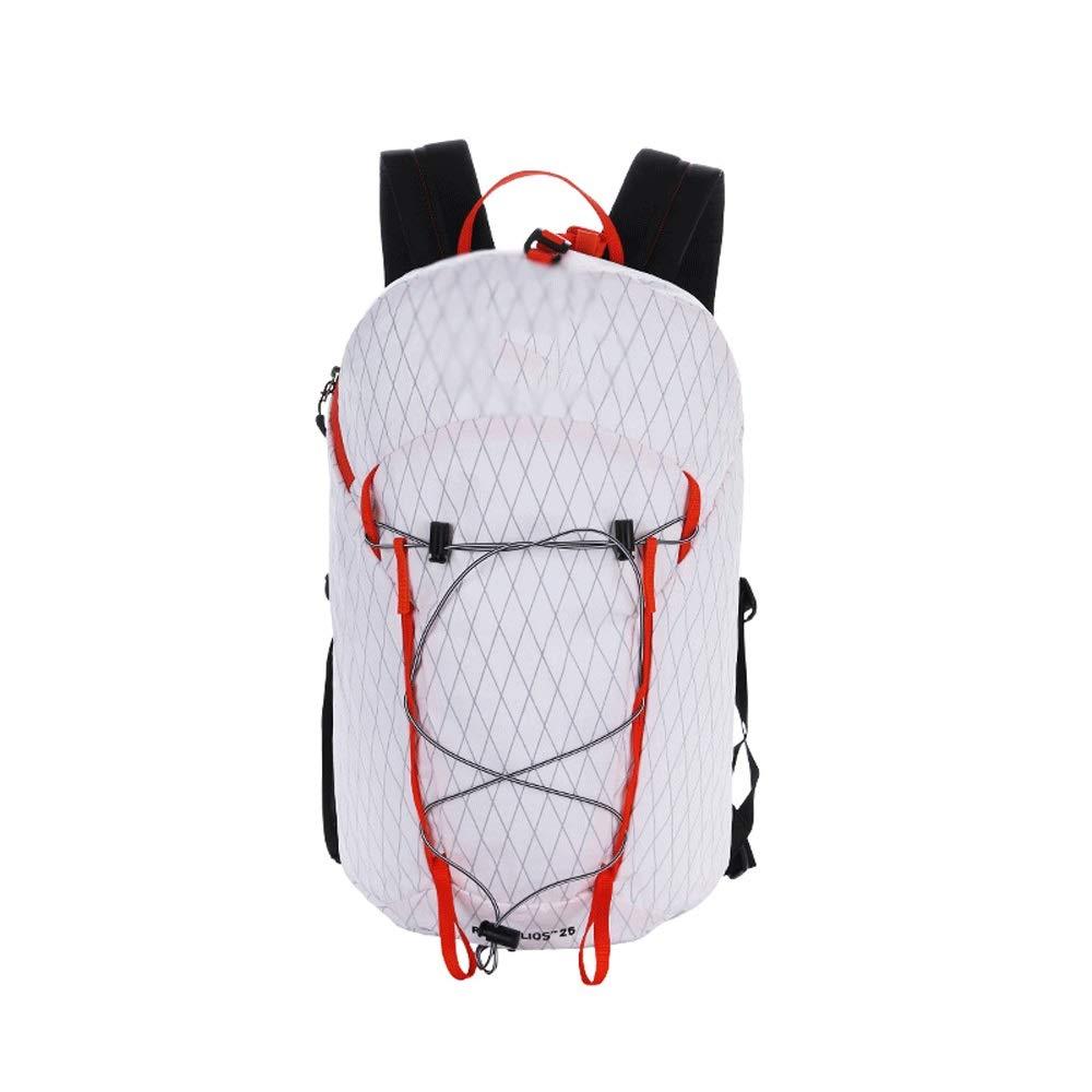 XUEYAQI- 登山、キャンバス、キャンプ、防水、アウトドアトラベルバッグ、メンズバッグ(ホワイト) (Color : White) B07T4VT9DQ White