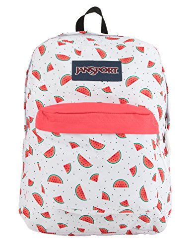 JanSport Superbreak Backpack - Watermelon Rain - Classic, Ultralight by JanSport