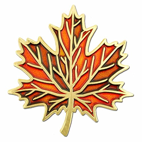 PinMart Autumn Fall Maple Leaf Enamel Lapel Pin