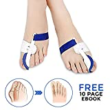 Bunion Corrector and Bunion Relief for Big Toe. Correction Splint for Women & Men with Toe Separator Including Sleeve and Cushions Support. One Pair of Orthopedic