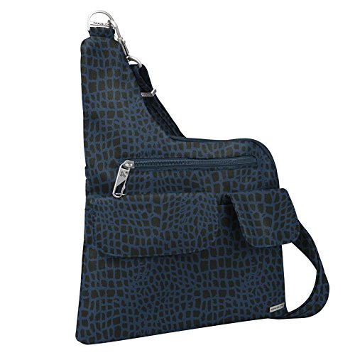 Travelon Anti-Theft Cross-Body Bag, Blue Snake, Two Pocket