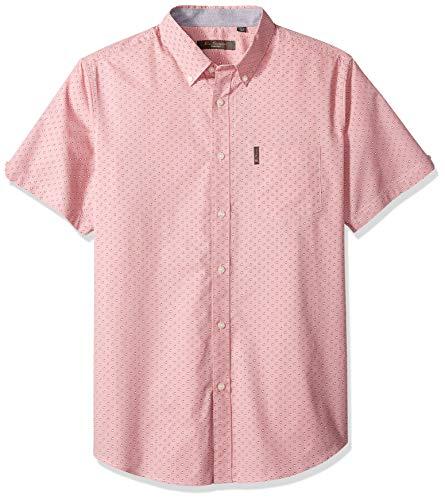 Ben Sherman Men's SS Ditsy FLORL PRNT Shirt, Rose, XXL