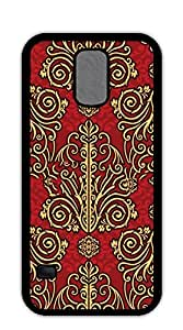 NBcase Damask Red and Golden Floral Pattern Hard PC case for samsung galaxy s5 purple