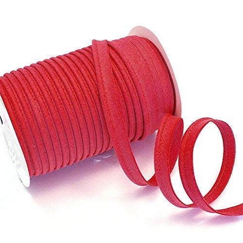 Higgs & Higgs - Bias Piping Plain - Red 46 - Insertion Trim Flanged All Colours