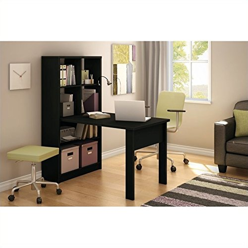 South Shore Annexe Craft Table and Storage Unit Combo, Pure Black by South Shore