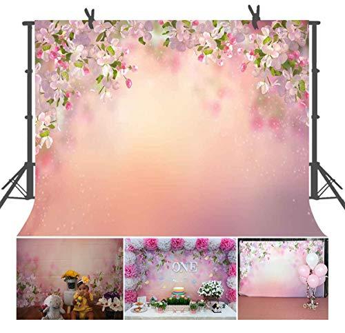 FUERMOR Background 7x5ft Beautiful Peach Flowers Photography Backdrop Photo Studio Props Wall Murals GEFU385