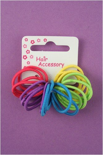 20 Girls Bright Rainbow Small Hair Elastics/Bands IN8146