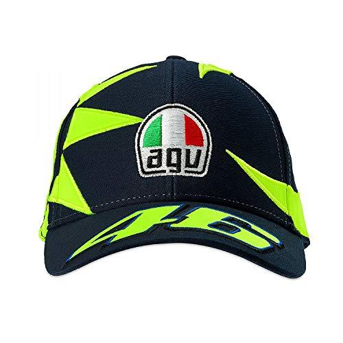 (Valentino Rossi Blue Sole E Luna Curved Peak Snapback Cap (Default, Blue))