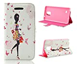 Note 4 Case,Galaxy Note 4 Case, Welity Shopping Girl PU Leather Wallet Type Magnet Design Flip Case Cover Credit Card Holder Pouch Case for Samsung Galaxy Note 4 and one gift