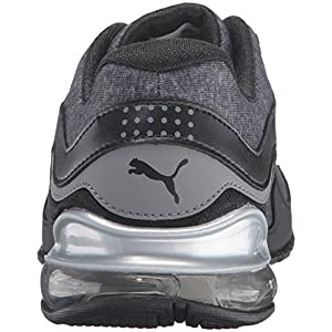 PUMA Women's Cell Riaze Heather Cross-Trainer Shoe, Black/Steel Gray, 7.5 M US