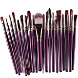 Brush Set - Professional 20pcs/set makeup brushes Foundation Powder Eyeshadow Blush Eyebrow Lip brush cosmetic tools maquiagem - Makeup Brush Set (Purple)