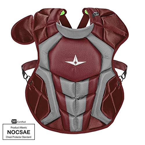 Allstar S7 Axis Chest Protector 12-16 - 15.5'' (Maroon/Grey)