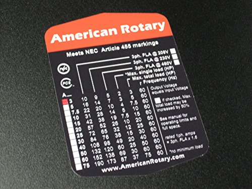 Rotary Phase Converter AR10-10HP 1 to 3 Three PH Made is USA by American Rotary (Image #5)