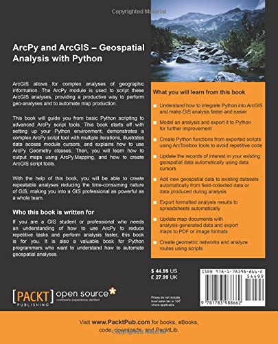 ArcPy and ArcGIS: Geospatial Analysis with Python: Silas