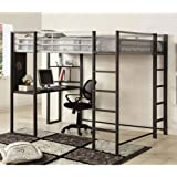 247SHOPATHOME IDF-BK1098F Bunk-Beds, Full, Silver