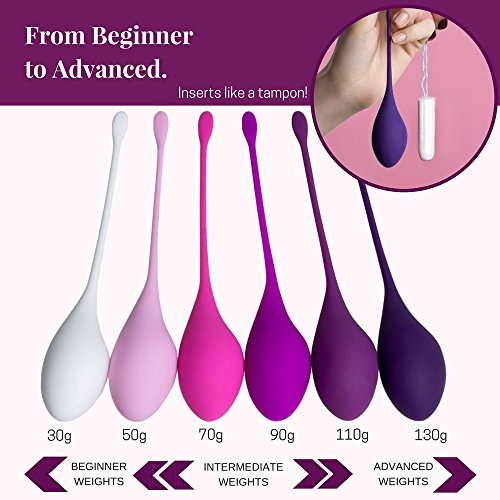Kegel Weights: Vaginal Exercise Balls (Set of 6) - Bladder Control Device and Pelvic Floor Exercise Kit - Complete Beginner to Advanced System for Women - Regain Confidence in Intimate Moments by Maison Vesta (Image #1)