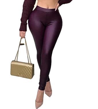 Unastar - Pantalones de chándal para Mujer (satén) - Morado - X ...
