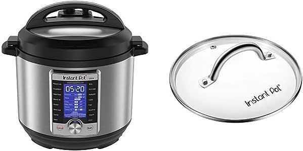 Instant Pot Ultra 10-in-1 Electric Pressure Cooker, Sterilizer, Slow Cooker, Rice Cooker, Steamer, Sauté, Yogurt Maker, Cake Maker, Egg Cooker, and Warmer, 6 Quart & 6 Quart Glass Lid