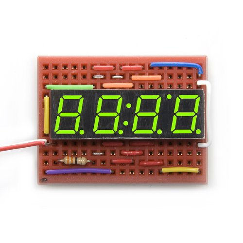 green 7 segment display - 9