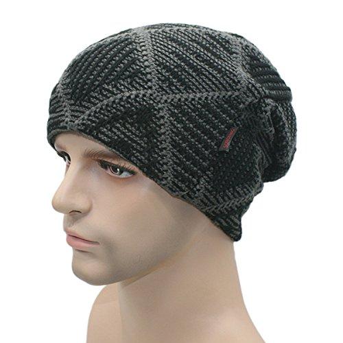 Unisex cráneo Invierno Café TININNA Gorra Negro de de Hat Sombrero Beanie de punto Cozy punto Beanie esquí Slouchy universal Sombrero Hombres Cálido BwwpA