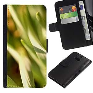 Ihec-Tech / Flip PU Cuero Cover Case para HTC One M8 - Abstract Crops