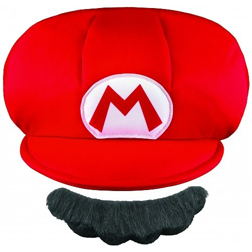 [Disguise Nintendo Super Mario Brothers Mario Child Hat and Mustache, One Size Child] (Kids Mario Costumes)