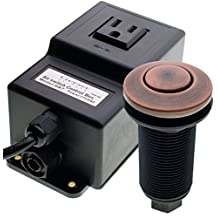 Geyser Oil Rubbed Bronze Garbage Disposal Air Switch Unit