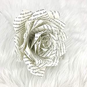 Paper Book Page Rose 4